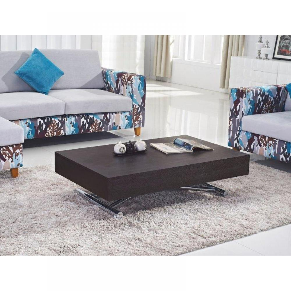 tables basses tables et chaises table basse relevable cube weng extensible 12 couverts. Black Bedroom Furniture Sets. Home Design Ideas
