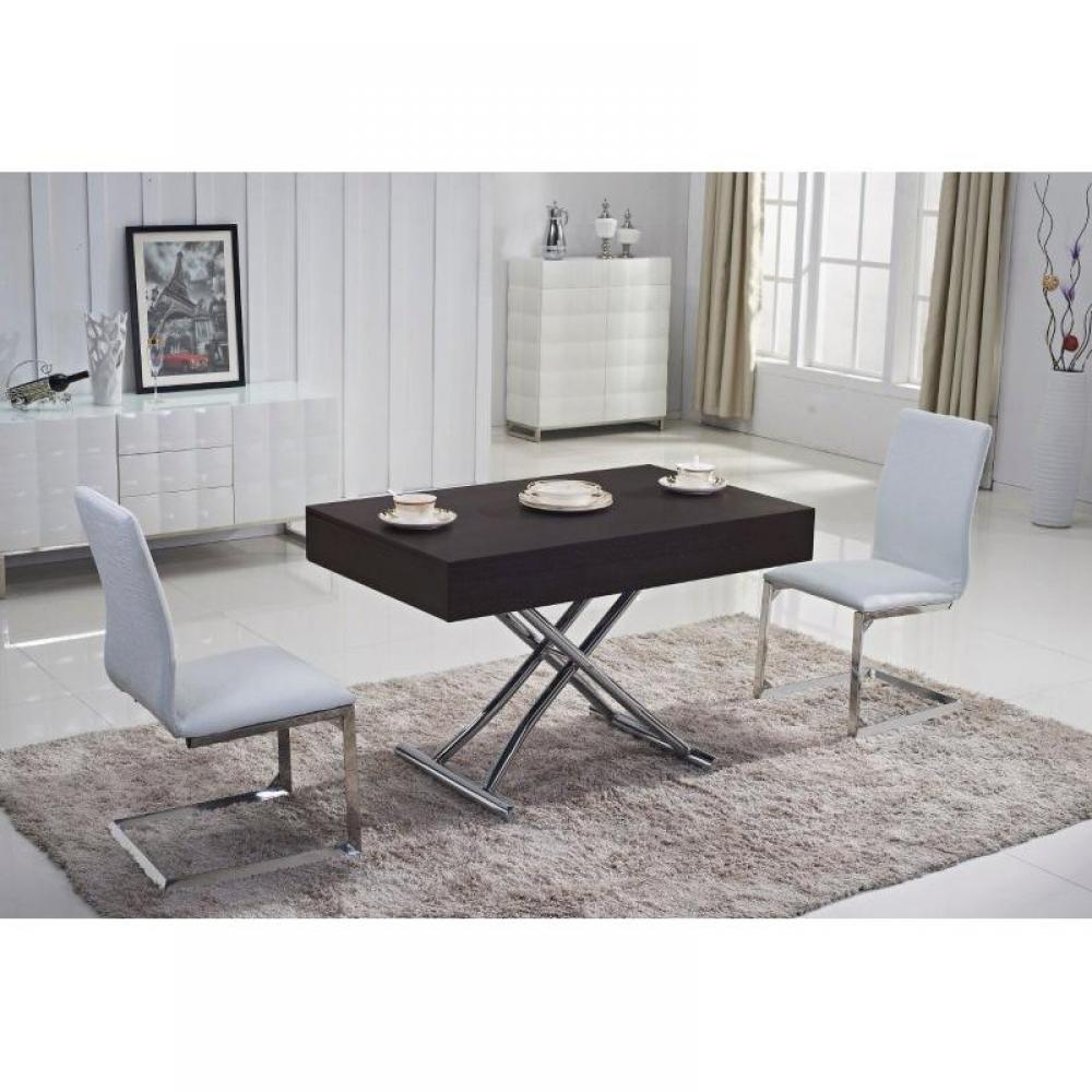 tables relevables tables et chaises table basse relevable cube weng extensible 12 couverts. Black Bedroom Furniture Sets. Home Design Ideas
