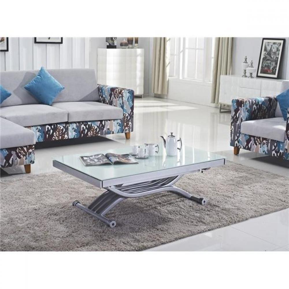 Tables relevables tables et chaises table basse form Table basse blanche plateau relevable