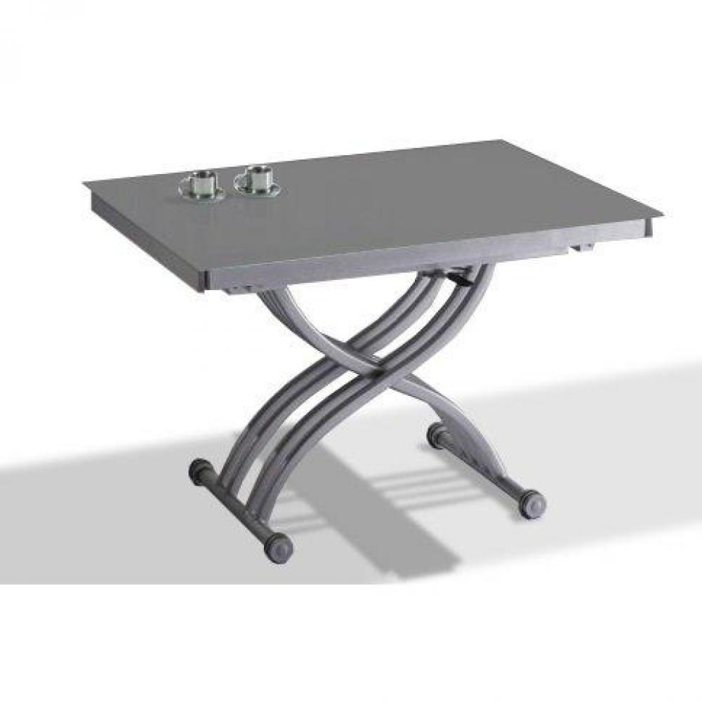 Tables relevables tables et chaises table basse form relevable extensible plateau en verre - Table extensible relevable ...