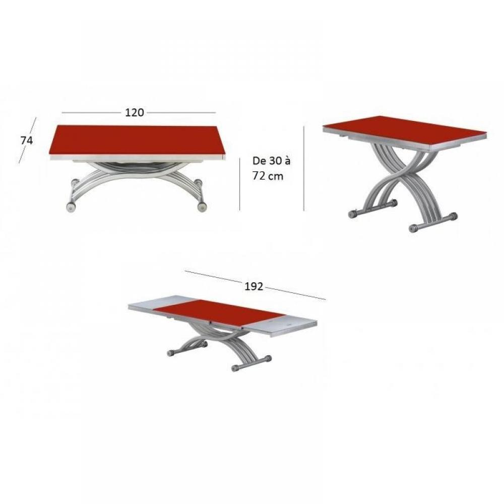 Tables basses tables et chaises table basse form relevable extensible plat - Table relevable en verre ...