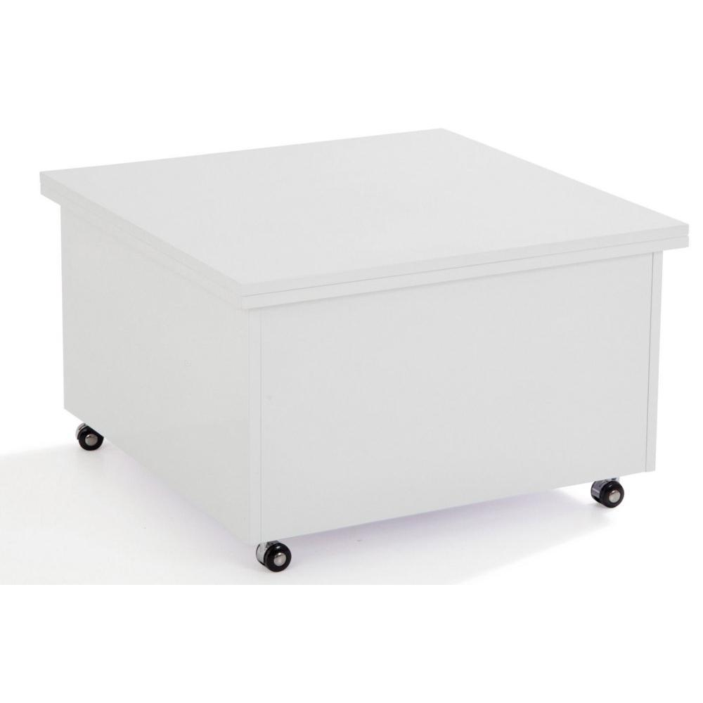 Table basse relevable blanche - Soldes table basse ...