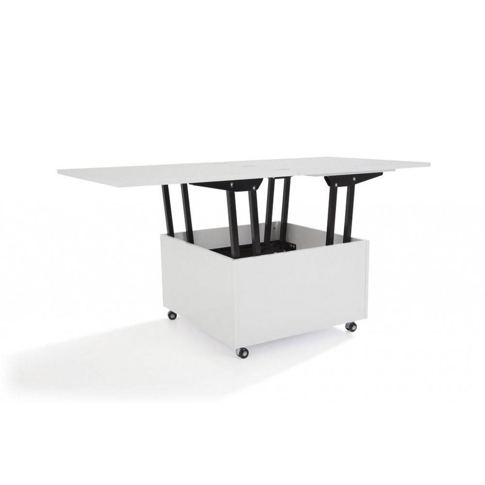 Tables relevables tables et chaises table basse relevable extensible giani blanche - Table basse blanche relevable ...