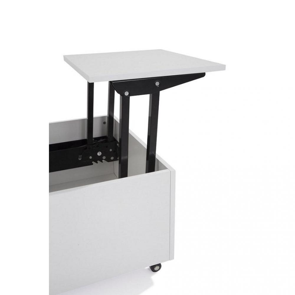 Tables basses tables et chaises table basse relevable for Table blanche extensible