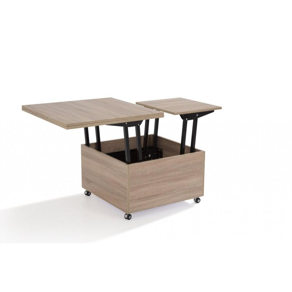 Tables relevables tables et chaises table basse relevable extensible giani ch ne inside75 - Table extensible relevable ...
