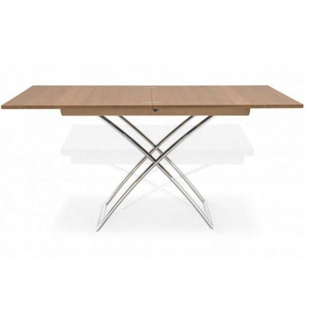 Table basse relevable extensible bois - Table en bois extensible ...