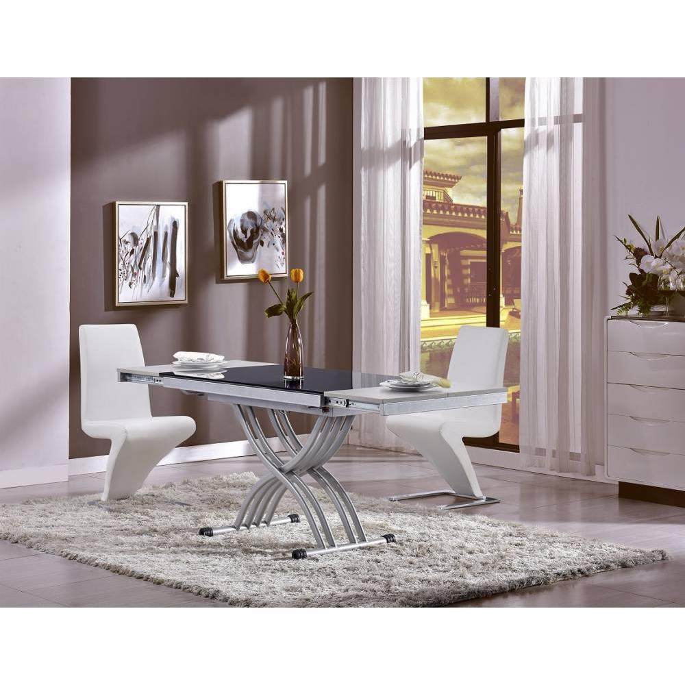 Tables relevables tables et chaises table basse newform - Table basse plateau en verre ...