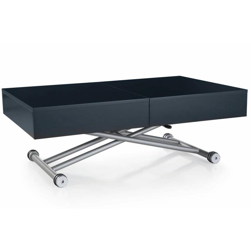 Tables basses tables et chaises table basse relevable albatros noire mate extensible 8 - Table extensible relevable ...