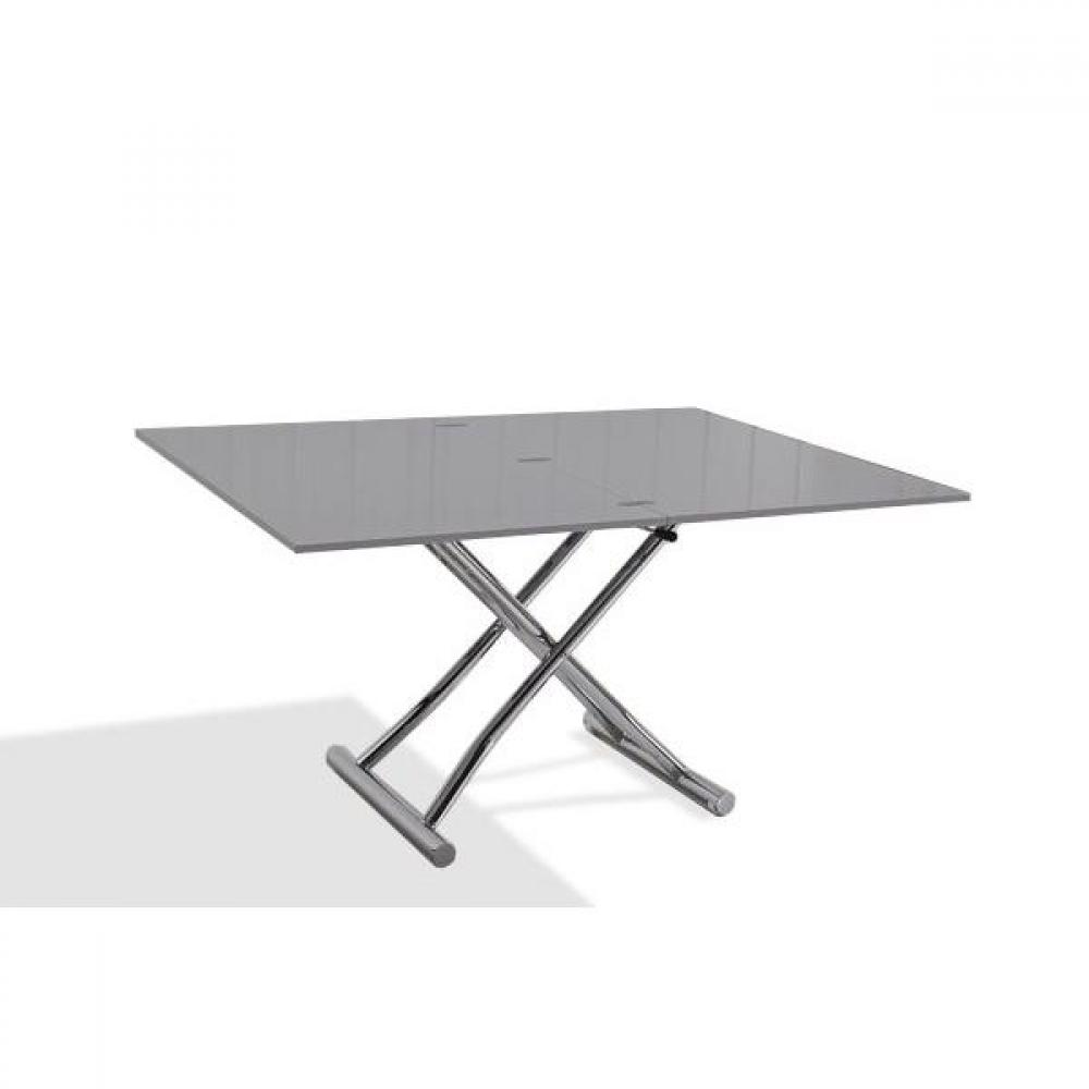 Tables basses tables et chaises table basse relevable for Table basse gris laque