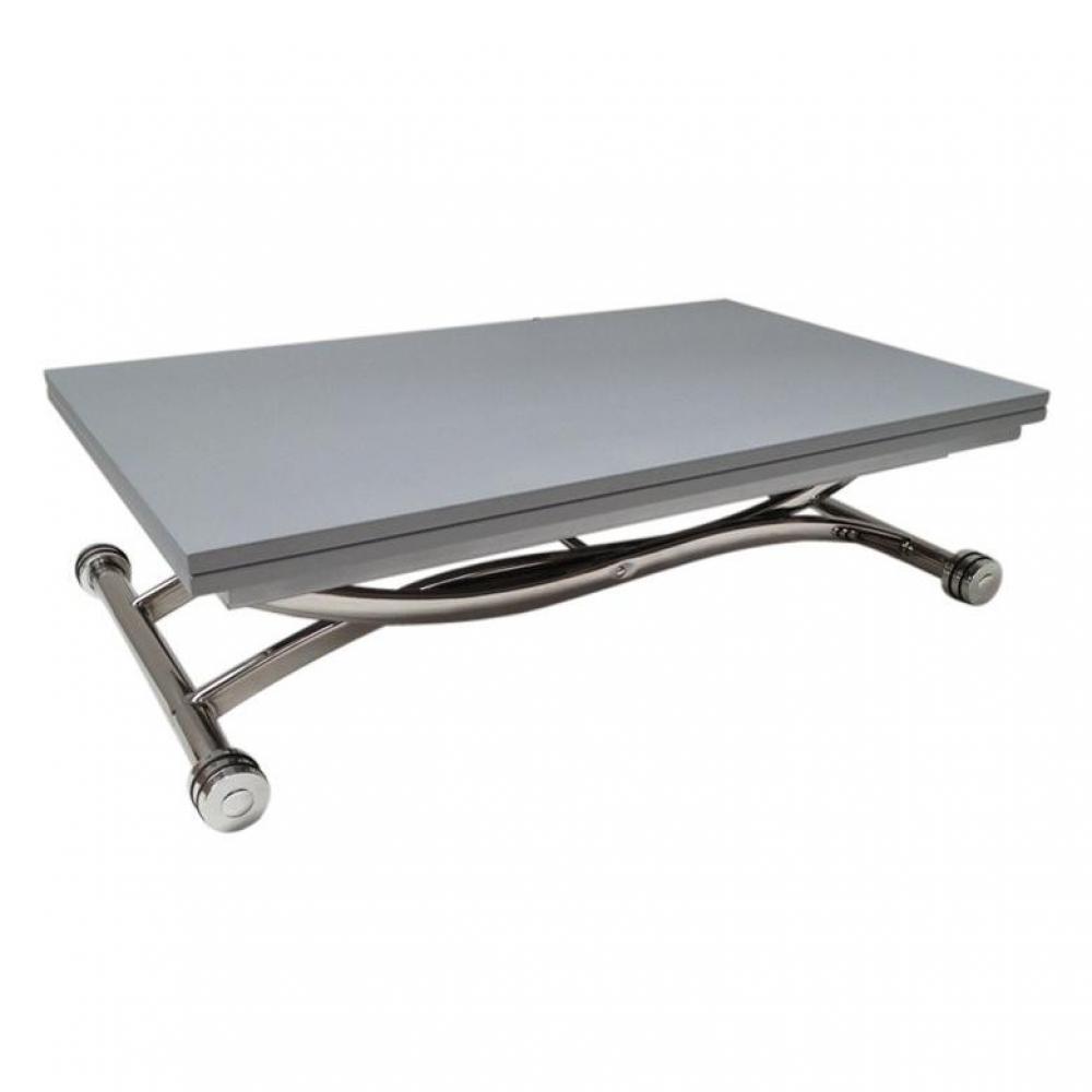 tables relevables meubles et rangements table basse high and low grise mat relevable. Black Bedroom Furniture Sets. Home Design Ideas