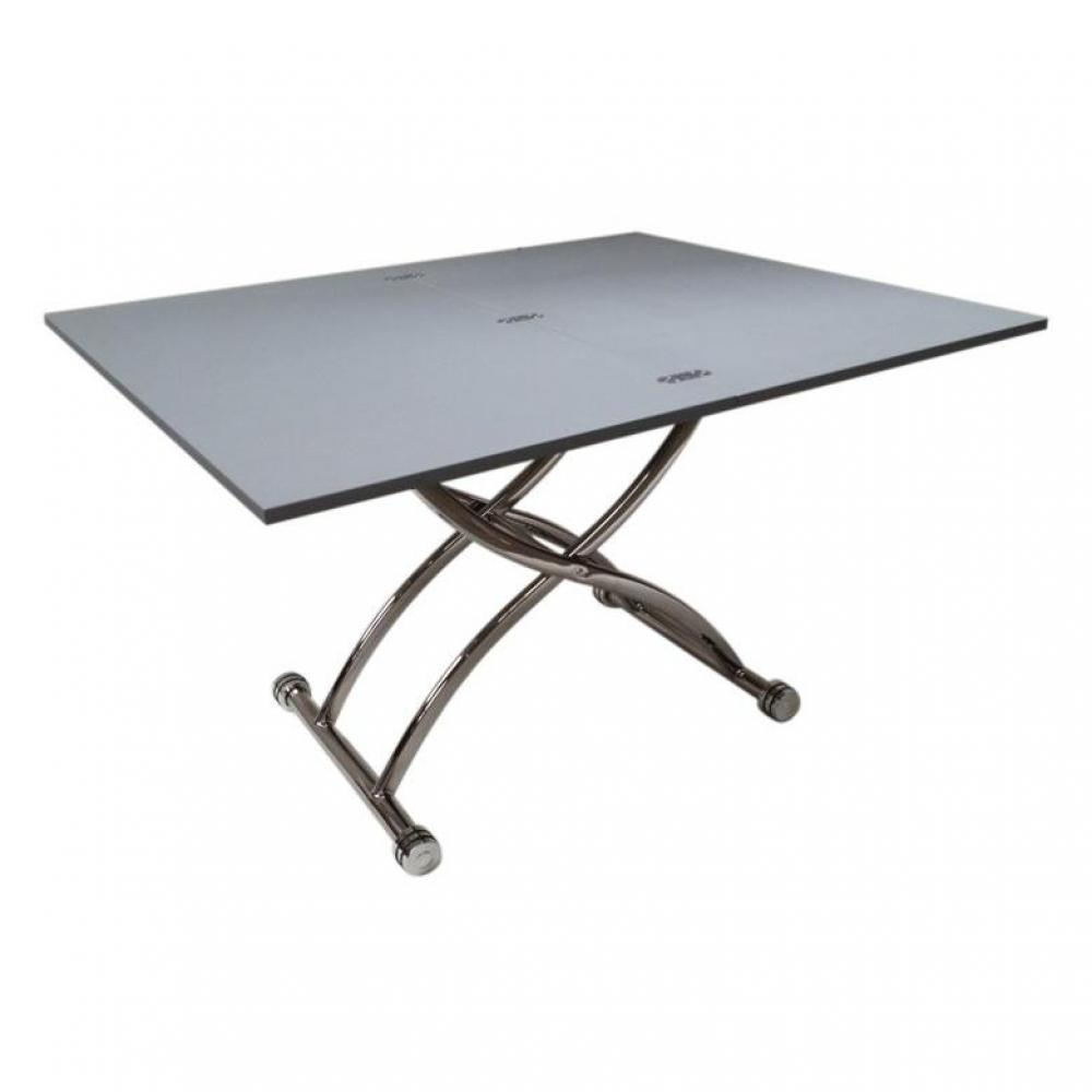 Black friday week table basse high and low grise mat - Petite table basse relevable ...