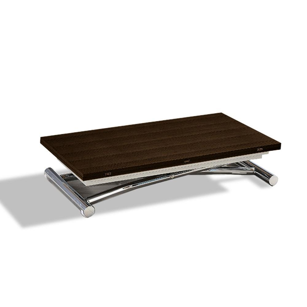 Tables relevables tables et chaises table basse high and low smoke noyer relevable extensible - Petite table basse relevable ...