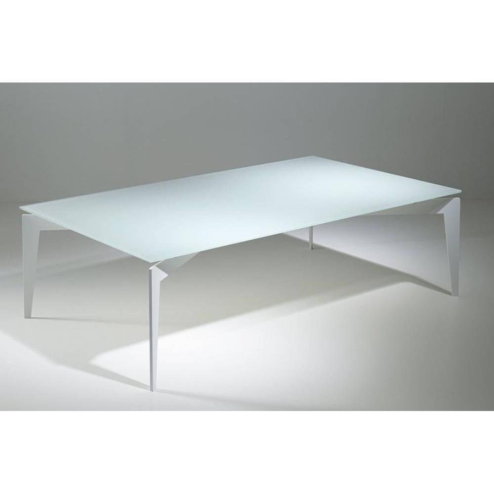 Tables basses tables et chaises table basse design rocky en verre blanc i - Table basse en verre blanc ...