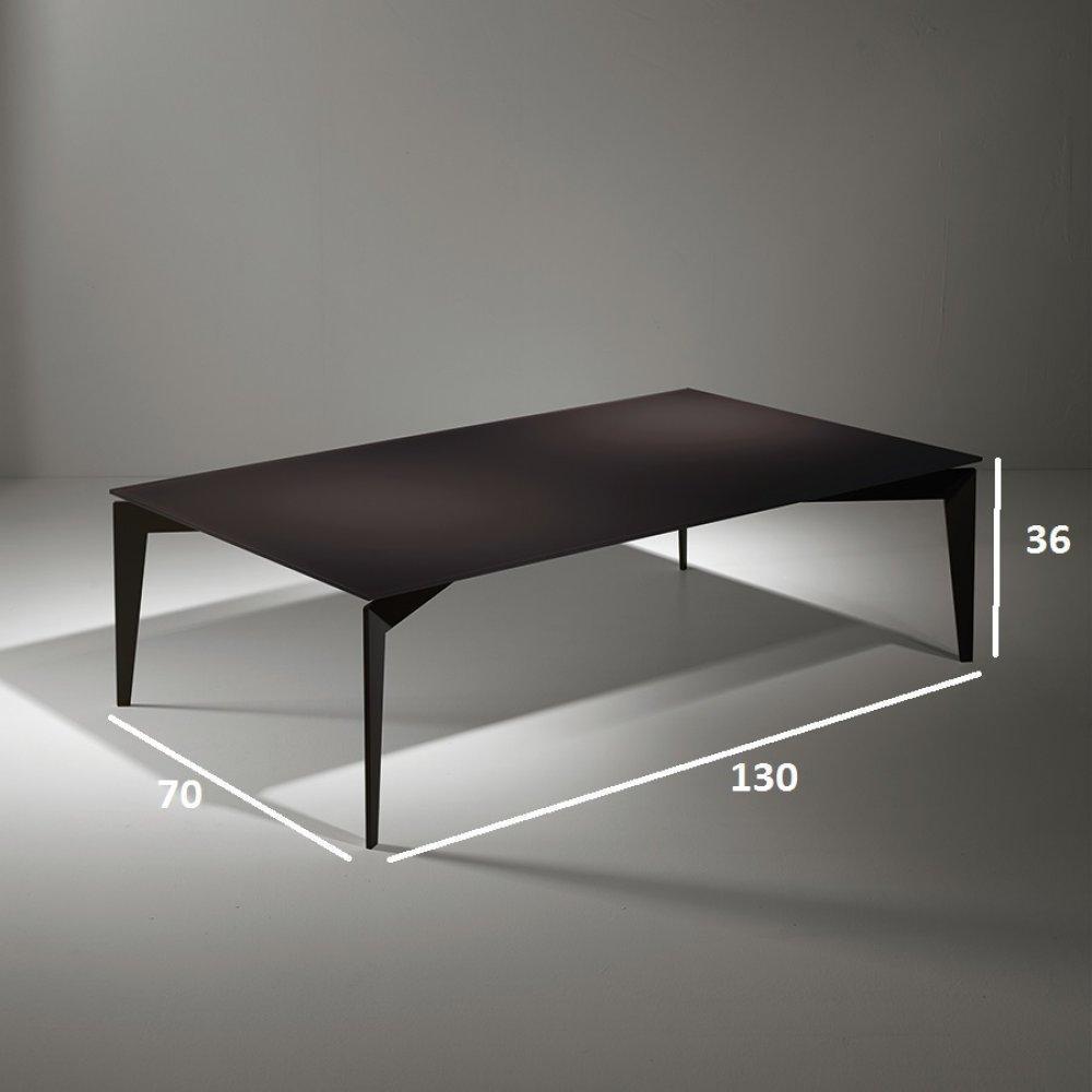 Tables basses tables et chaises table basse rocky en verre coloris chocolat - Table basse chocolat ...
