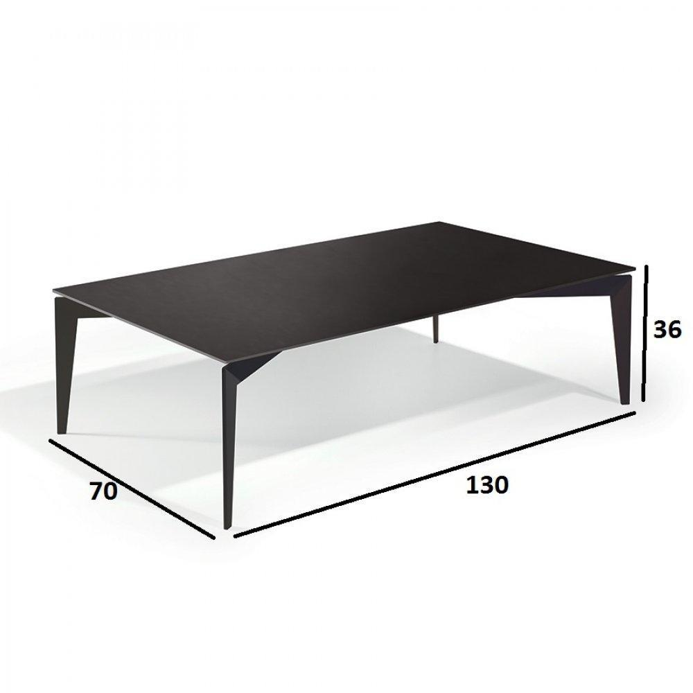 Tables basses tables et chaises table basse rocky en for Table basse en verre noir