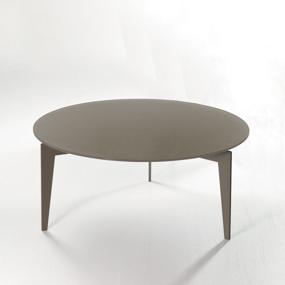 tables basses tables et chaises table basse ronde miky en verre coloris chocolat inside75. Black Bedroom Furniture Sets. Home Design Ideas