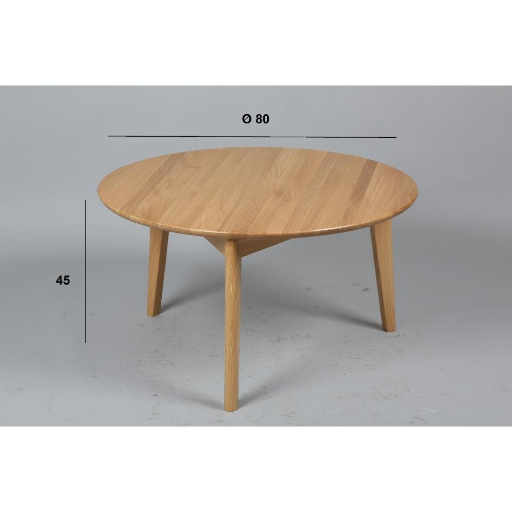 Tables basses tables et chaises table basse ronde olga - Table basse ronde chene ...