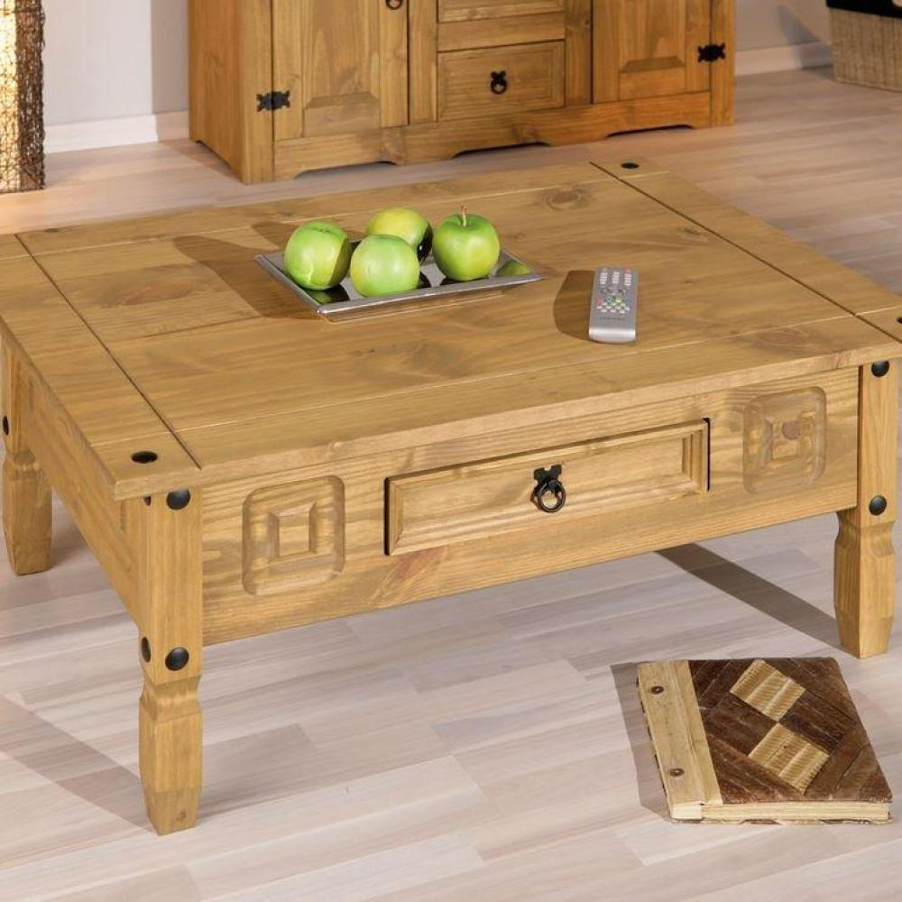 Tables basses tables et chaises table basse rustique en - Salon en bois massif ...
