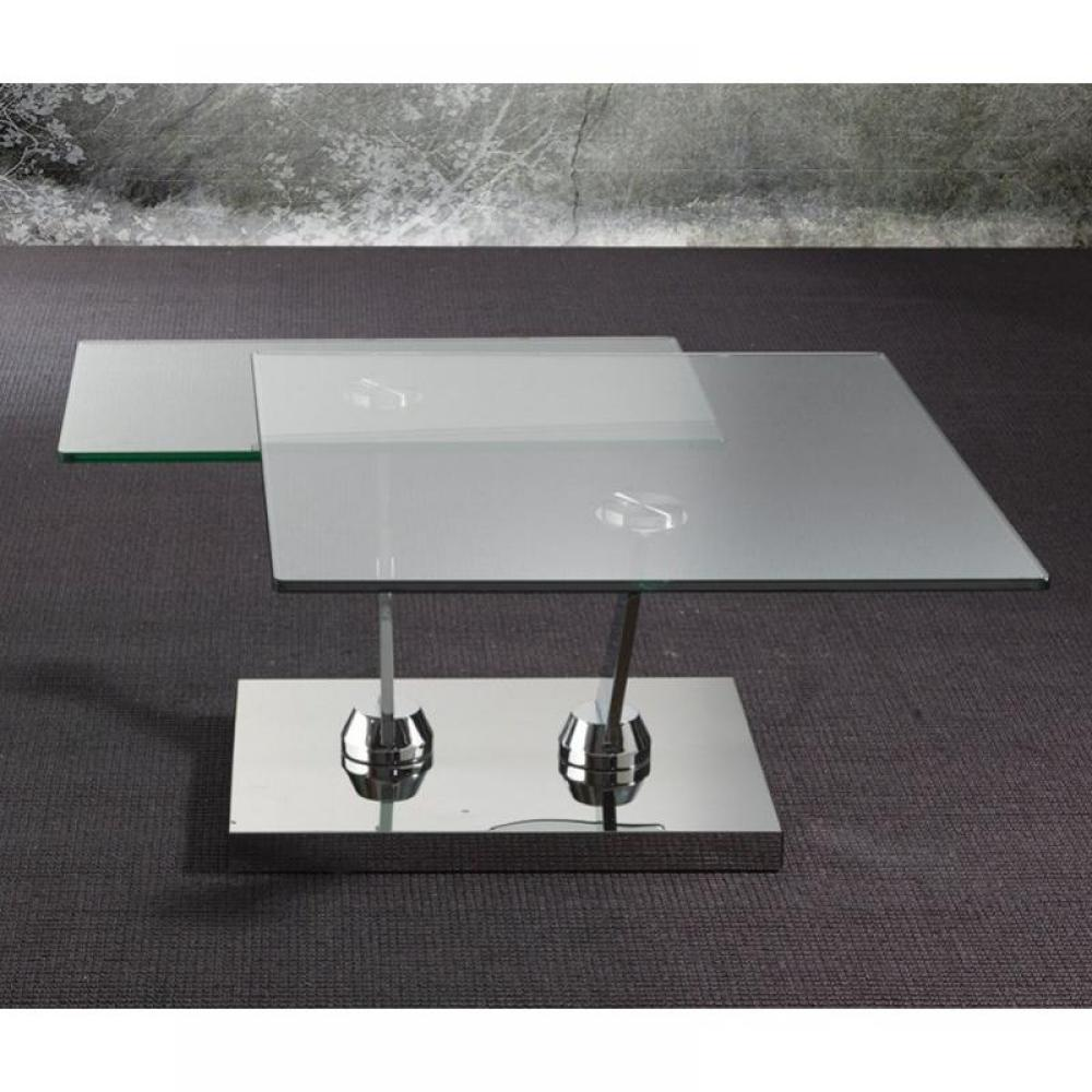 Tables basses tables et chaises table basse braf design en verre inside75 - Table basse design verre linea ...