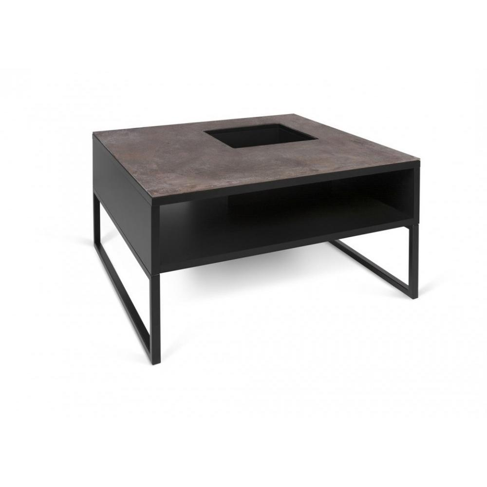 tables basses tables et chaises temahome table basse sigma c ramique oxyd marron inside75. Black Bedroom Furniture Sets. Home Design Ideas