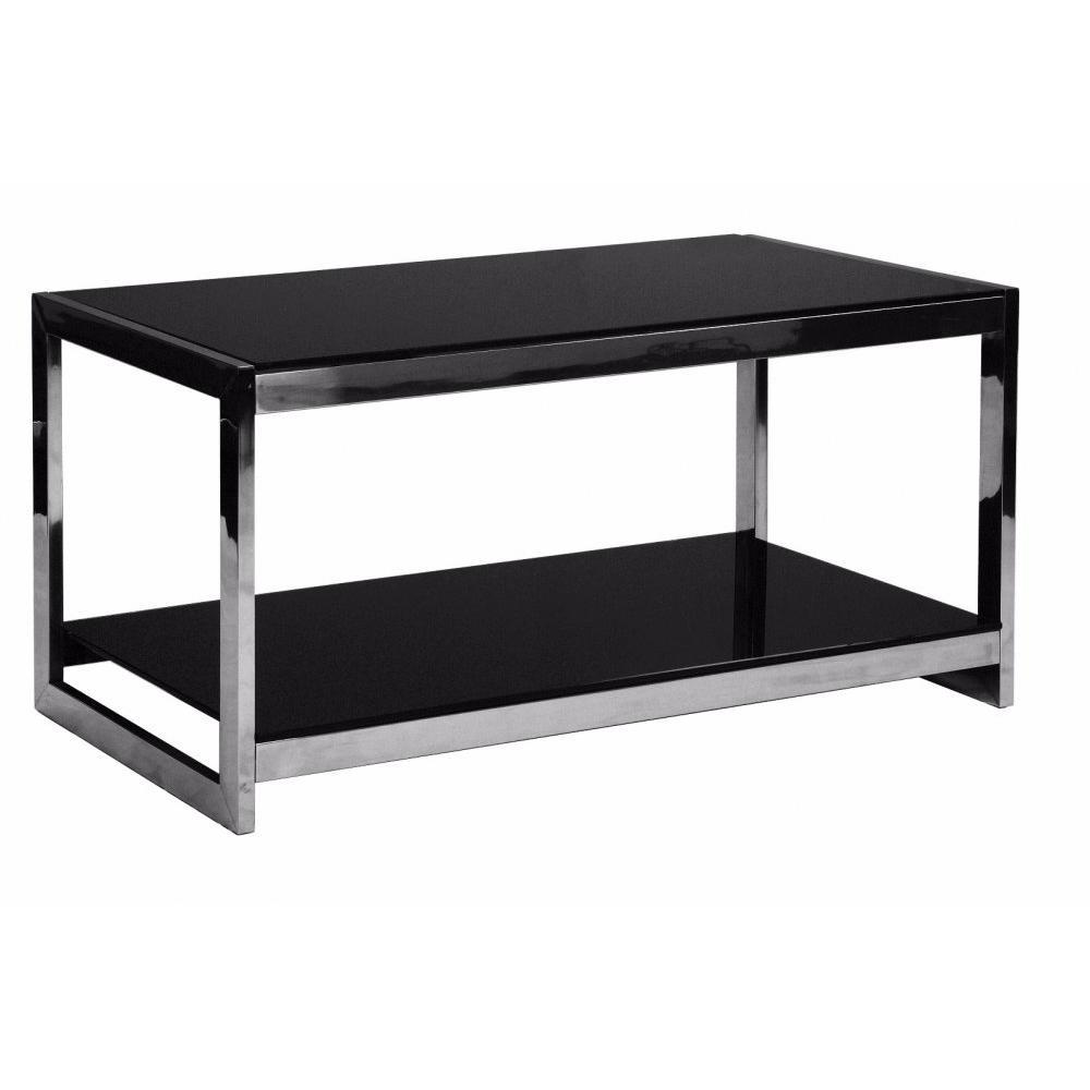 Tables basses tables et chaises table basse design summer en verre noir inside75 - Table basse en verre noir ...