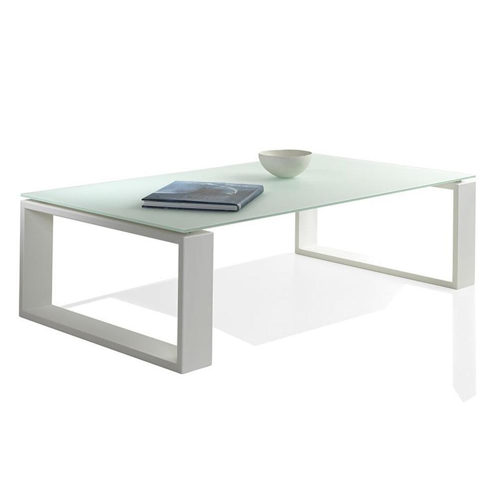 table basse en verre blanc
