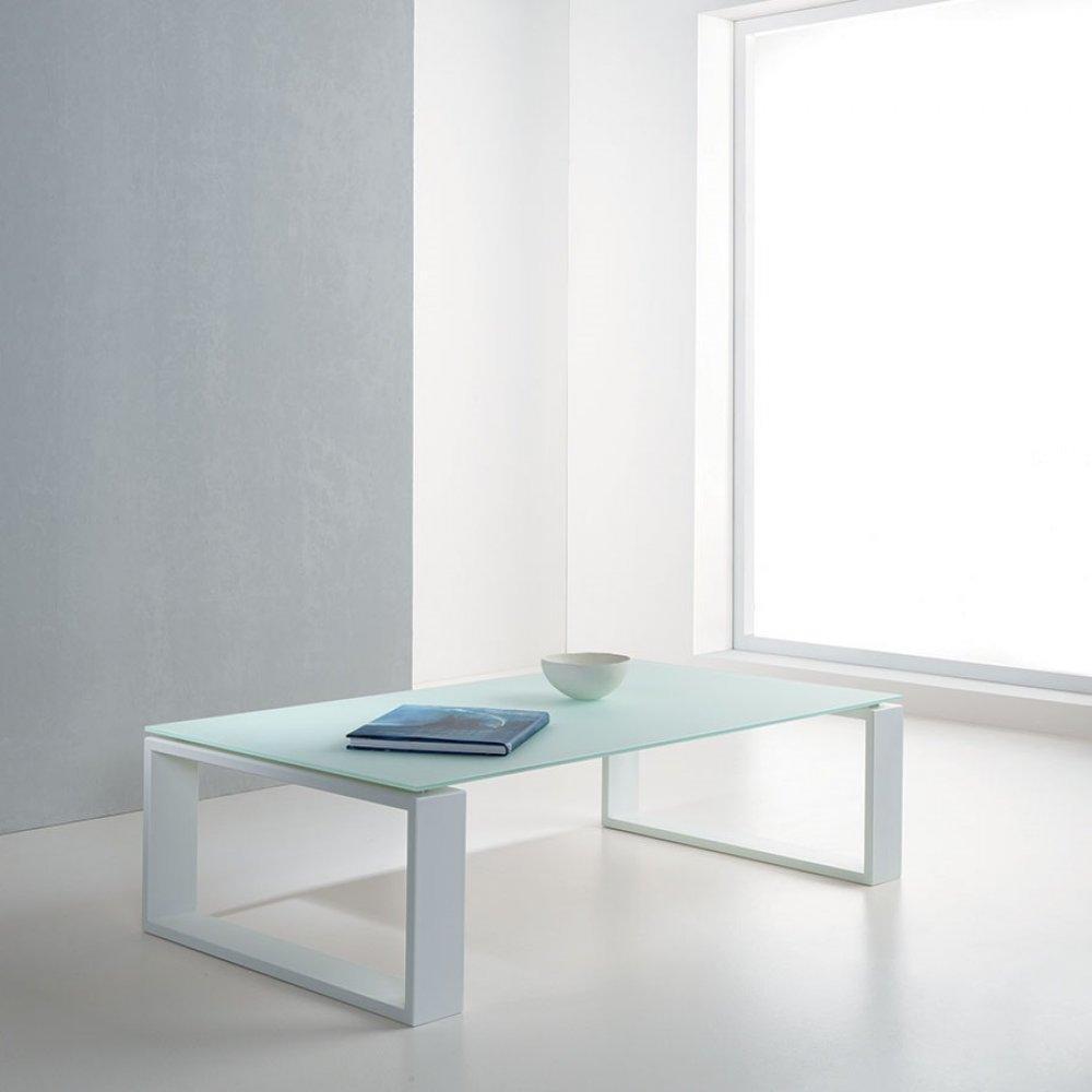 tables basses tables et chaises table basse tacos en verre d poli blanc inside75. Black Bedroom Furniture Sets. Home Design Ideas