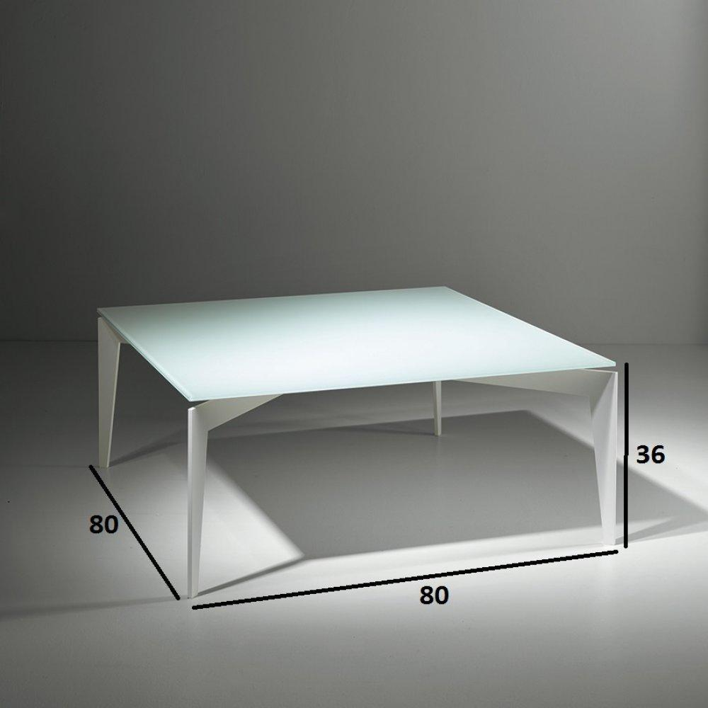 Tables basses tables et chaises table basse tobias en verre blanc inside75 - Table basse verre blanc ...