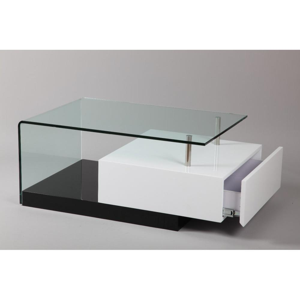 Tables basses tables et chaises table basse trunk en verre transparent tiro - Table basse verre et blanc ...