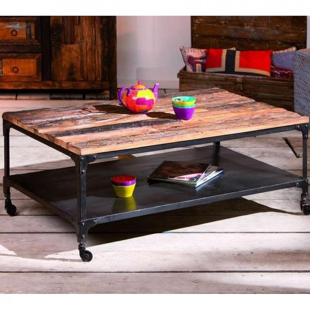 table basse bois recycle. Black Bedroom Furniture Sets. Home Design Ideas