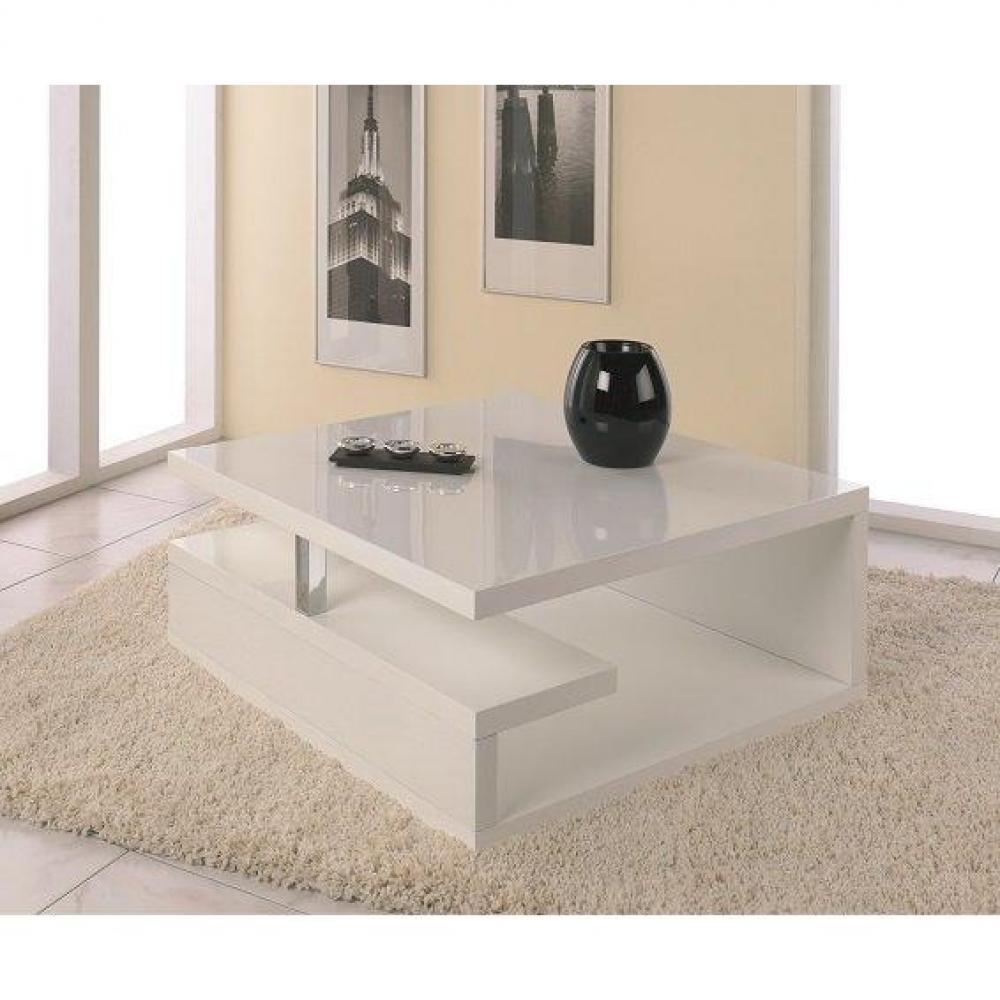 Canap lit gigogne blanc avec un lit de jour et un lit for Table basse rubis