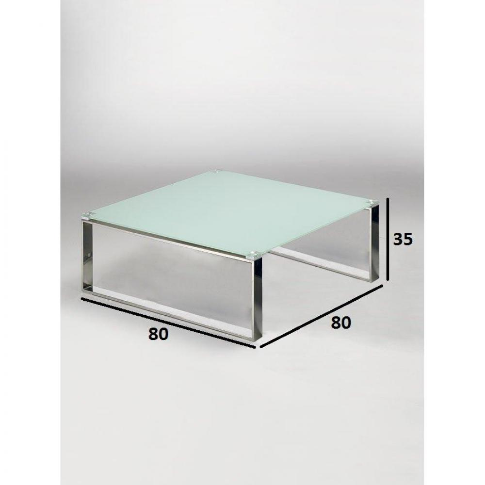 Tables basses tables et chaises table basse carr e zoe - Table basse blanc verre ...