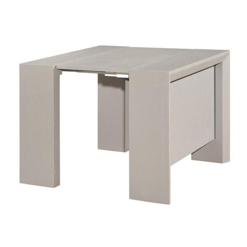 Table console avec rallonge integree for Table rectangulaire avec rallonge integree