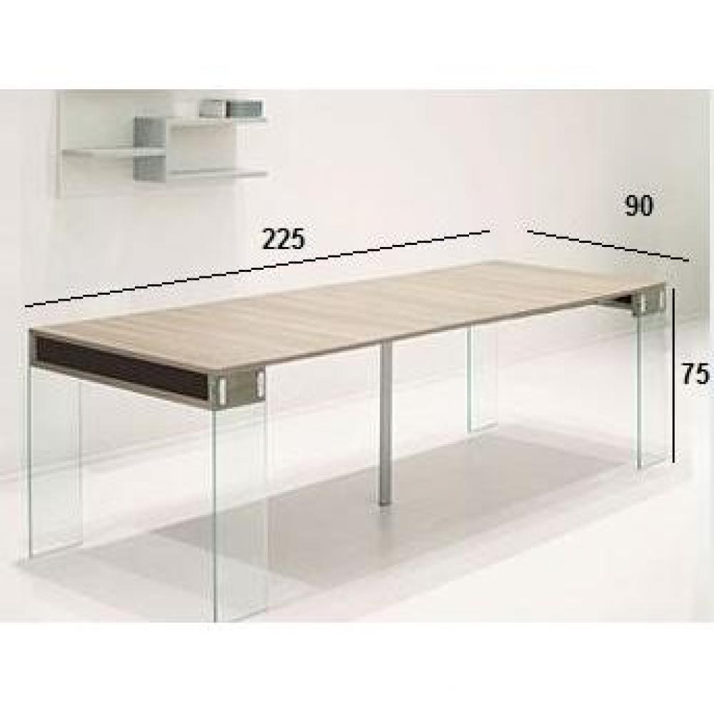 table console verre extensible. Black Bedroom Furniture Sets. Home Design Ideas