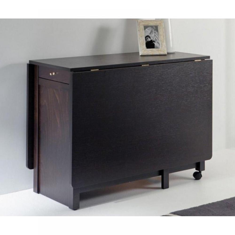 consoles extensibles tables et chaises console extensible party en h tre wenge inside75. Black Bedroom Furniture Sets. Home Design Ideas