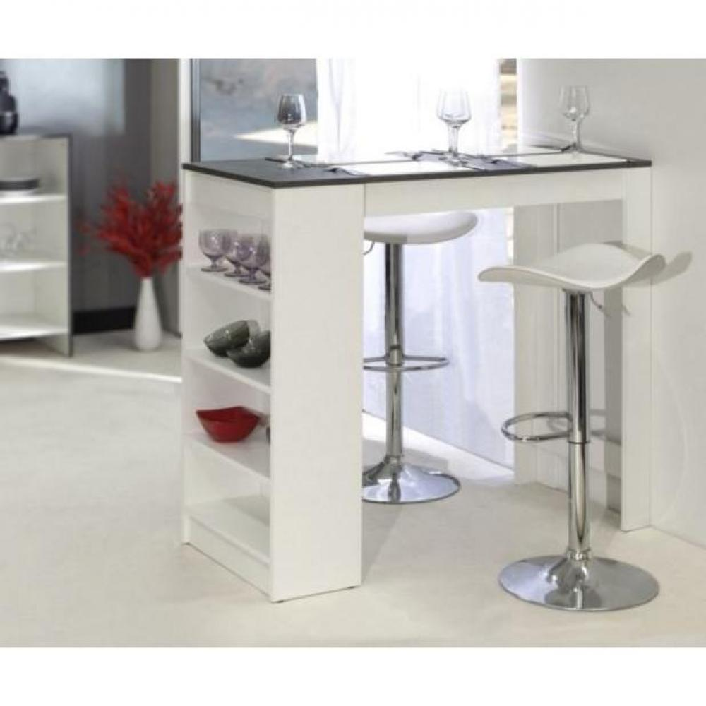 Tables tables et chaises table de bar dolar blanche avec for Table bar blanche