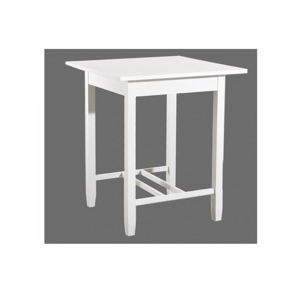 Bars tables et chaises table de bar eva en bois blanc for Table bar en bois