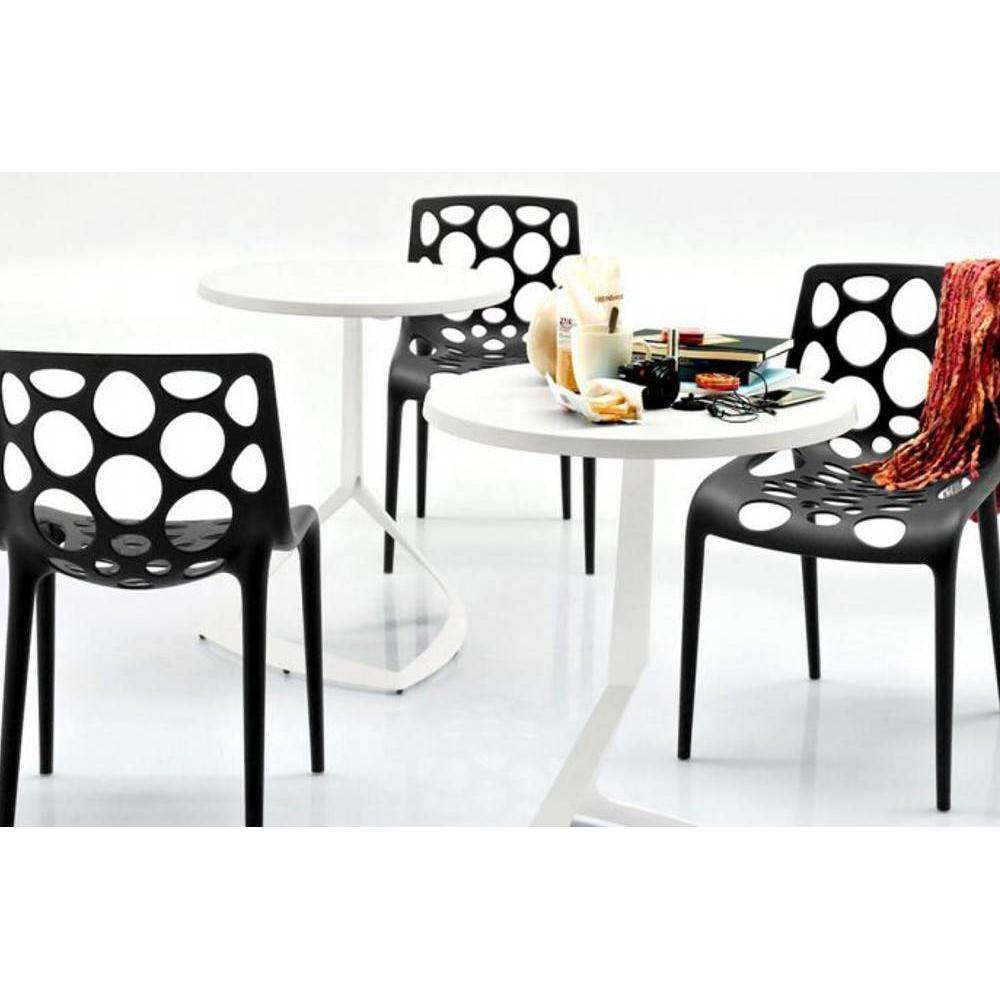 petite table ronde blanche conceptions de maison. Black Bedroom Furniture Sets. Home Design Ideas