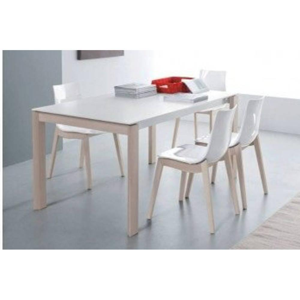 tables extensibles tables et chaises table repas bio tech extensible blanche 180 cm inside75. Black Bedroom Furniture Sets. Home Design Ideas