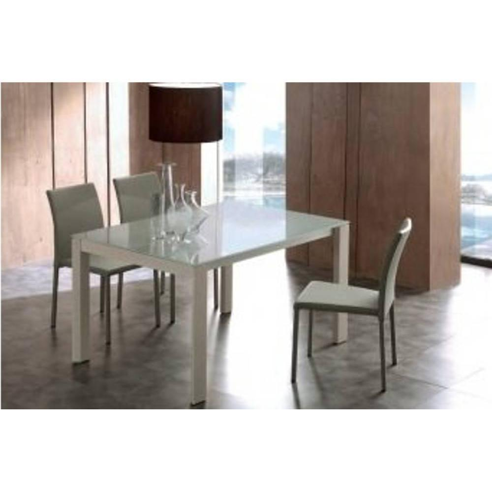 tables repas tables et chaises table repas bio tech extensible en verre extrawhite 180 cm. Black Bedroom Furniture Sets. Home Design Ideas