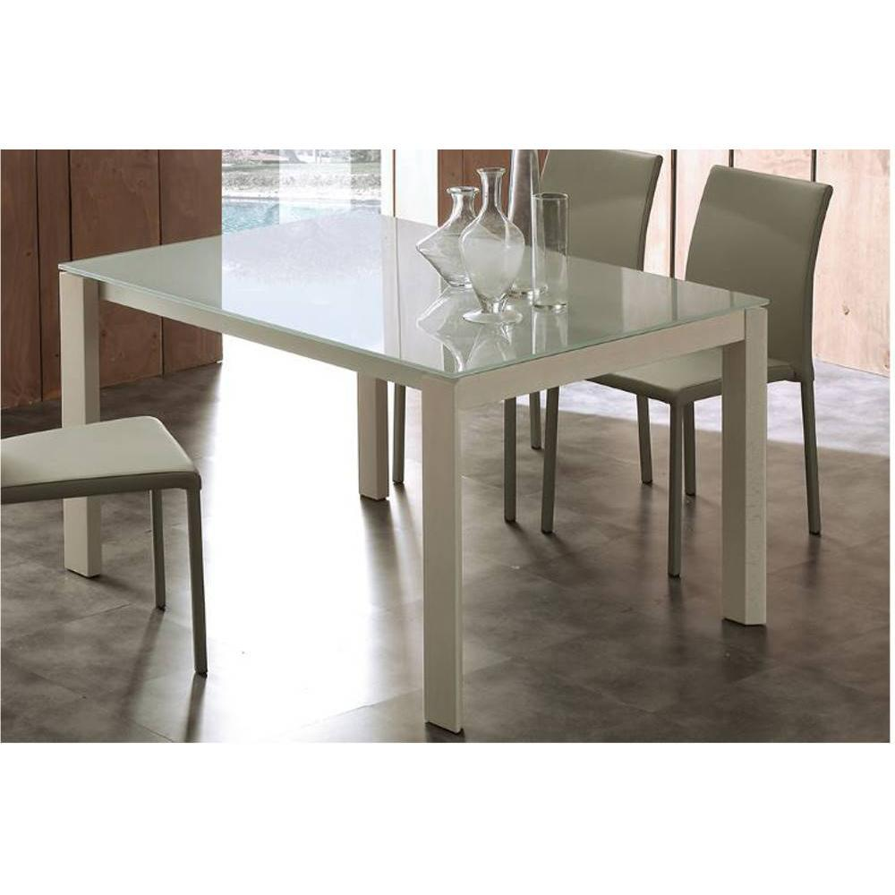 tables repas tables et chaises table repas bio tech extensible en verre extrawhite 310 cm. Black Bedroom Furniture Sets. Home Design Ideas