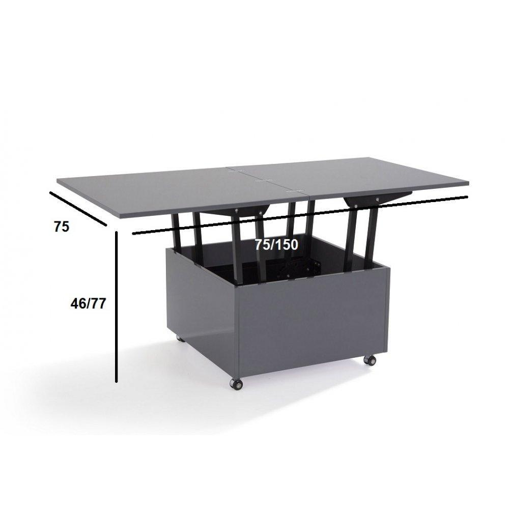 Table relevable grise sammlung von design - Tables basses relevables ...