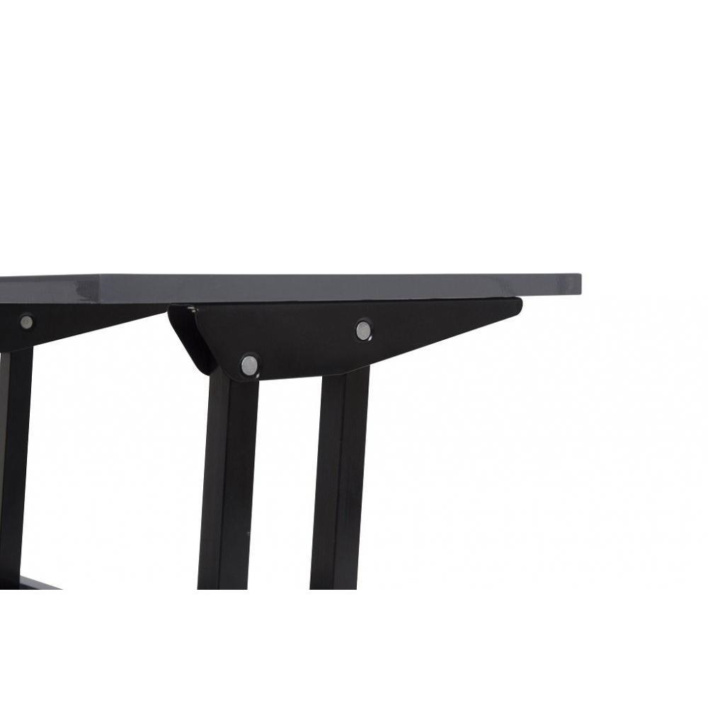 Table extensible grise maison design for Table extensible relevable