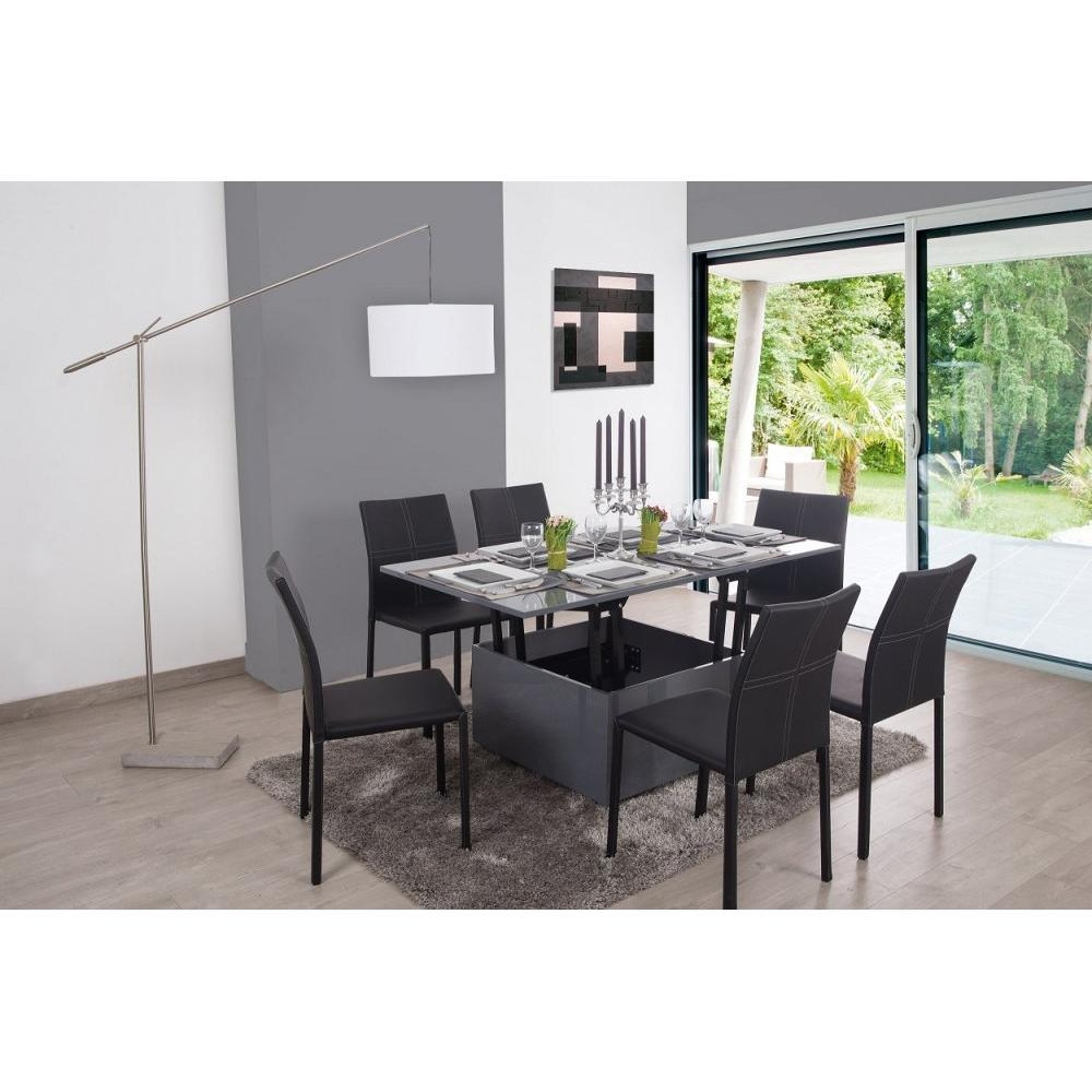 Canap s convertibles canap s et convertibles table basse for Table extensible grise