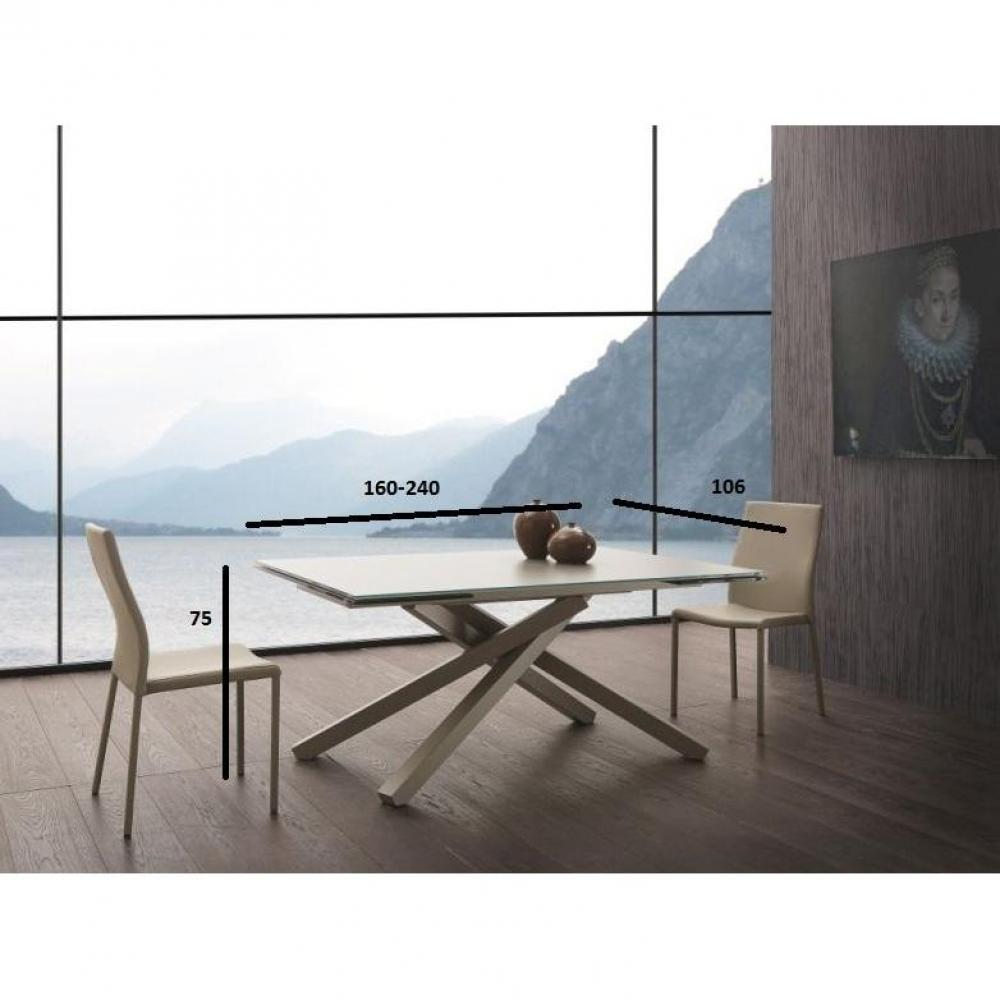 Tables tables et chaises table repas extensible infinity for Table extensible 160 cm