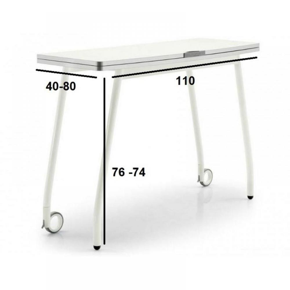 consoles extensibles tables et chaises calligaris table pliante modulable blitz book blanche