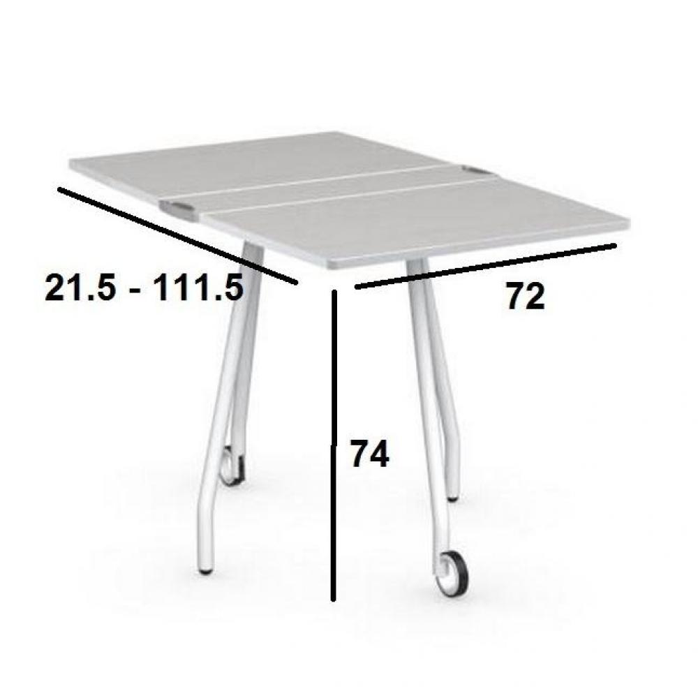 Tables repas tables et chaises table pliante modulable - Table pliante a roulettes ...