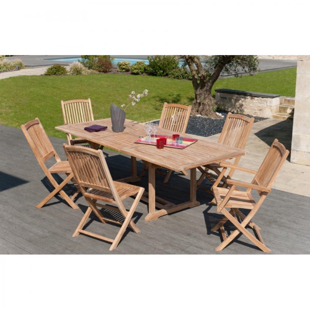 Tables tables et chaises table repas extensible - Comment recuperer un salon de jardin en teck ...
