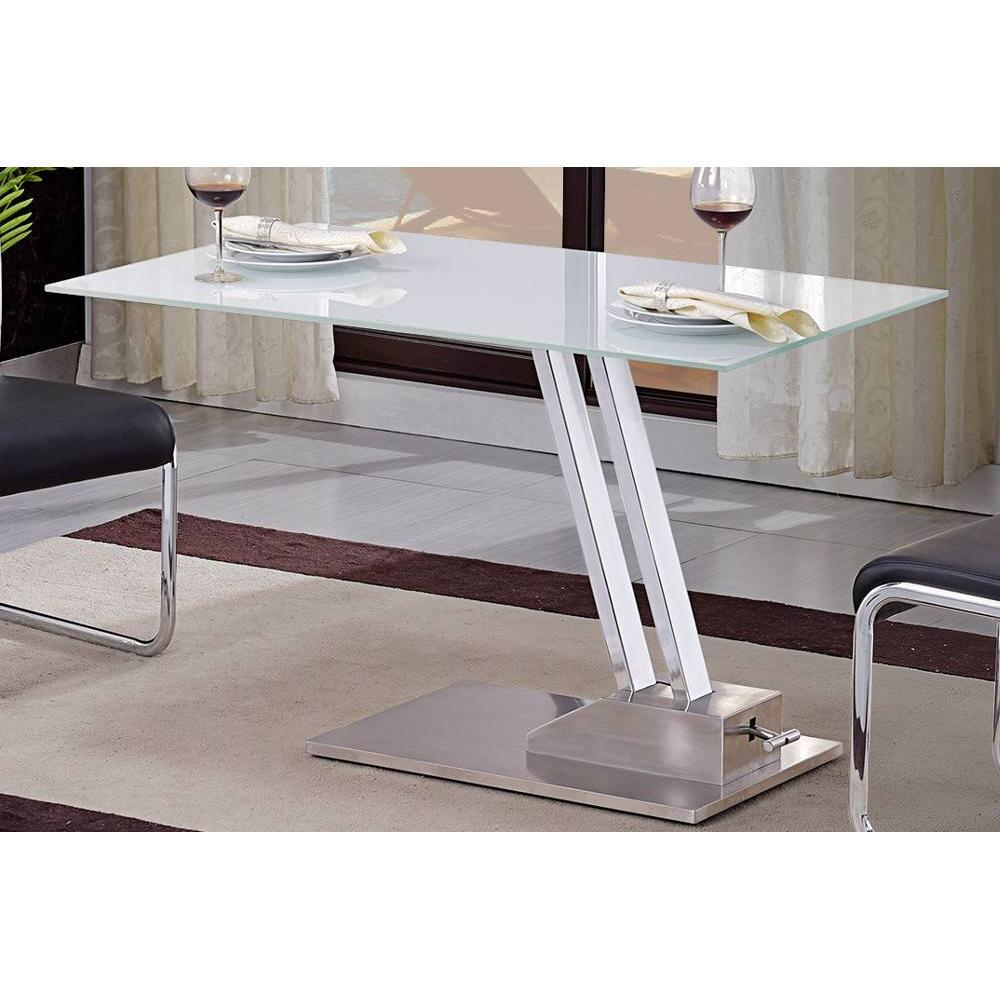 Tables relevables tables et chaises table basse relevable step en verre s r - Table basse verre blanc ...