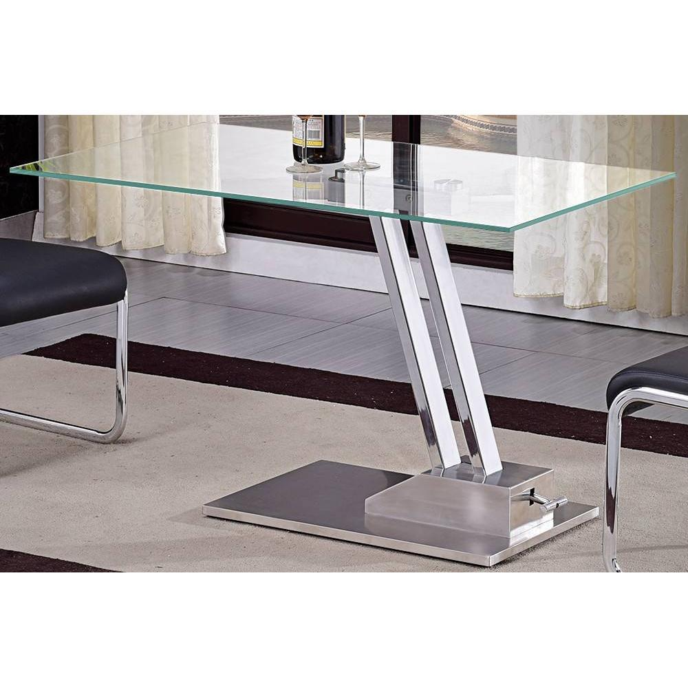 Tables Relevables Tables Et Chaises Table Basse Relevable Step En Verre Transparente Structure